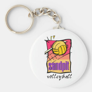 Sandpit Volleyball Basic Round Button Key Ring