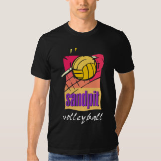 Sandpit Volleyball Black  T-Shirt