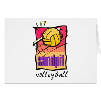 Sandpit Volleyball Gift Greeting Card