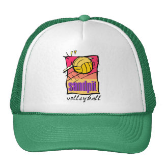 Sandpit Volleyball Gift Trucker Hats