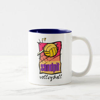 Sandpit Volleyball Gift Two-Tone Mug