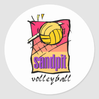 Sandpit Volleyball Round Sticker