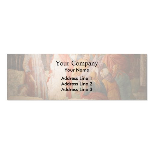 Sandro Botticeli:Young Man Greeted by Liberal Arts Business Card
