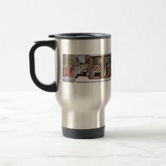 Sandro Botticelli- Baptism of St Zenobius Stainless Steel Travel Mug