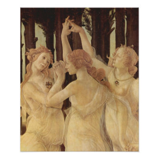Sandro Botticelli-Spring (Primavera), detail Poster