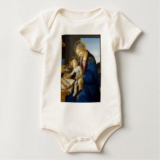 Sandro Botticelli - The Virgin and Child Baby Bodysuit