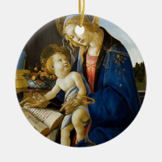 Sandro Botticelli - The Virgin and Child Ceramic Ornament