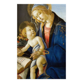Sandro Botticelli - The Virgin and Child Custom Stationery