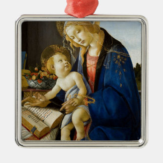 Sandro Botticelli - The Virgin and Child Metal Ornament