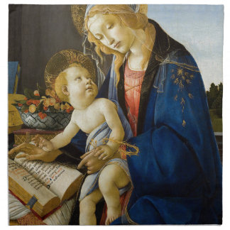 Sandro Botticelli - The Virgin and Child Napkin