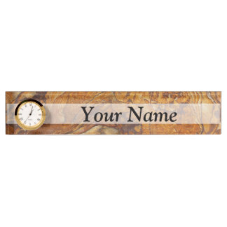 Sandstone abstract pattern nameplate