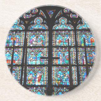 Sandstone Coaster--Stained Glass Windows Sandstone Coaster