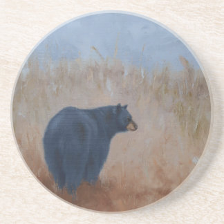 """Sandstone Coaster with """"Rear View"""" Bear"""