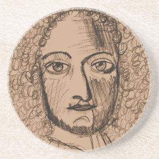 Sandstone Coasters with Sepia Portrait