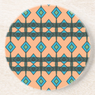 Sandstone Coasters with Southwestern Design