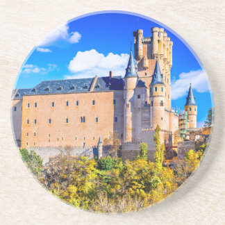 Sandstone Drink Coaster Segovia castle