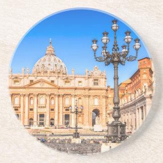 Sandstone Drink Coaster Vatican