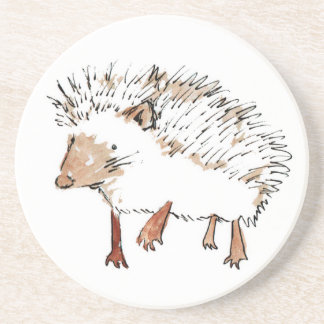 Sandstone Drinks Coaster - Hedgehog