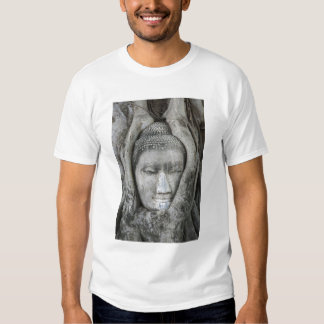 Sandstone head of Buddha surrounded by tree Shirts