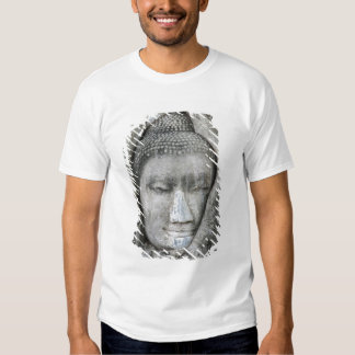 Sandstone head of Buddha surrounded by tree T Shirt