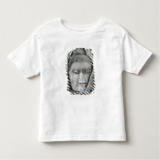 Sandstone head of Buddha surrounded by tree T-shirts