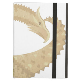 Sandstone heart dragon on white case for iPad air
