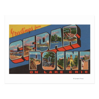 Sandusky, Ohio - Lake Erie - Cedar Point Postcard
