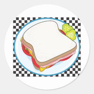 Sandwich Classic Round Sticker