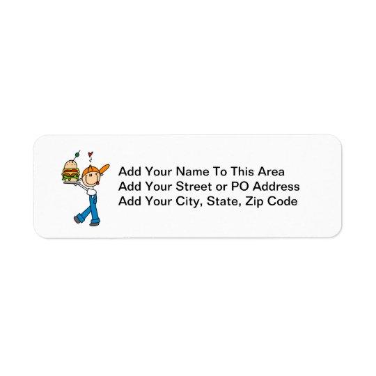 Sandwich Connoisseur Stick Figure Return Address Label