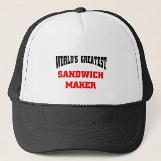 Sandwich maker trucker hat
