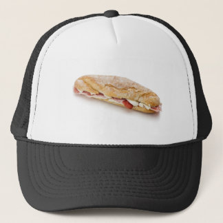sandwich with ham and cheese trucker hat