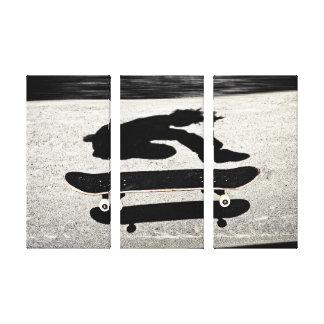 sandwiched skateboard canvas print