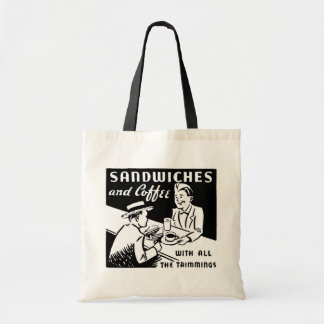 Sandwiches and Coffee Budget Tote Bag