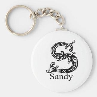 Sandy Basic Round Button Key Ring