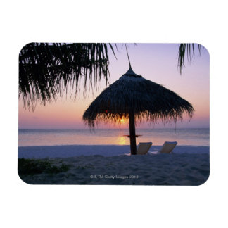 Sandy Beach 6 Rectangular Photo Magnet