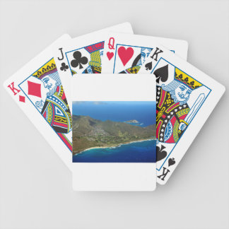 Sandy Beach Aerial Bicycle Playing Cards