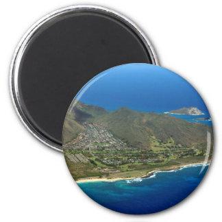 Sandy Beach Aerial Magnet