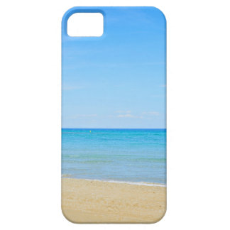 Sandy beach and blue Mediterranean sea Case For The iPhone 5