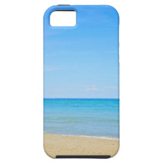 Sandy beach and blue Mediterranean sea iPhone 5 Cover