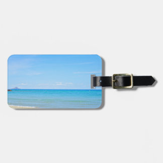 Sandy beach and blue Mediterranean sea Luggage Tag