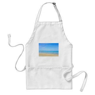 Sandy beach and blue Mediterranean sea Standard Apron