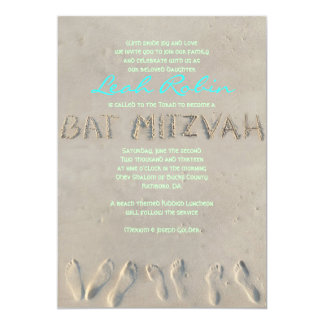 SANDY BEACH Bat Mitzvah Invitation