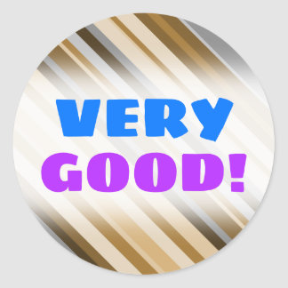 Sandy Beach Colors Inspired Striped Pattern Classic Round Sticker