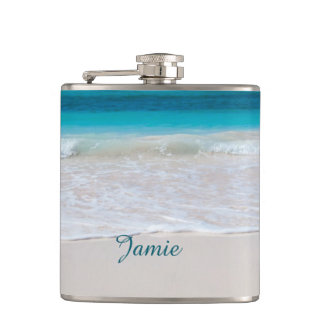 Sandy Beach Custom Flask