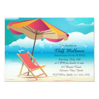 Sandy Beach Invitation
