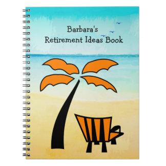 Sandy Beach Retirement Ideas Notebook