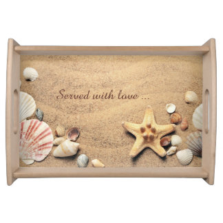 Sandy Beach Shells Serving Tray