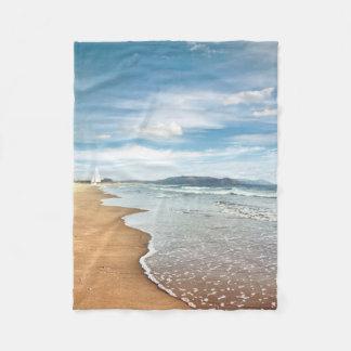 Sandy Beach Small Fleece Blanket