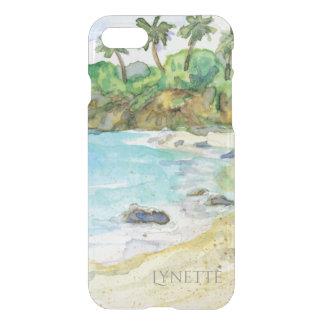 Sandy Beach Tropical Shore Ocean Waves Watercolor iPhone 7 Case