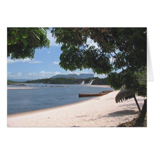 Sandy Beach Venezuela Jungle Landscape Card